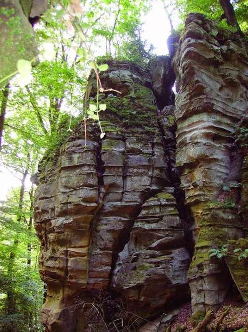 Rock Sand Stone Devil'S Canyon Sachsen