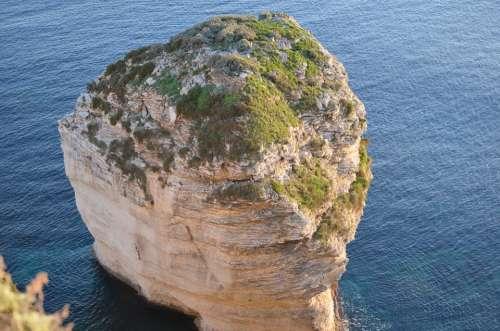 Rock Cliff Water Sea Coast Landscape Rocky Coast