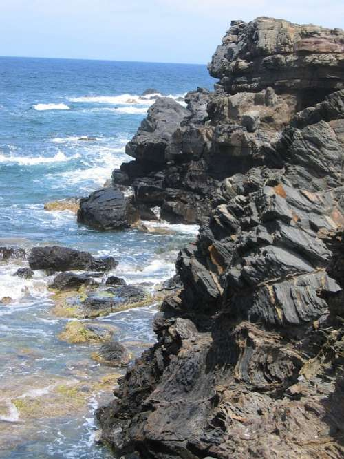 Rock Slate Sea Stone Coast