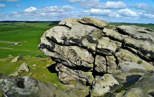 Rock Background Nature Landscape Seasons Spring