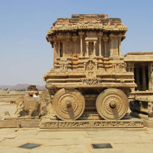 Rock Chariot Hampi Unesco World Heritage India
