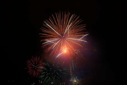 Rocket Orange Fireworks New Year'S Eve