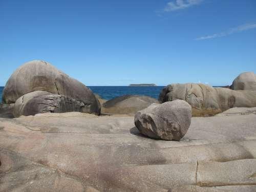 Rocks Sea Coastline Rocky Shore Line Ecology