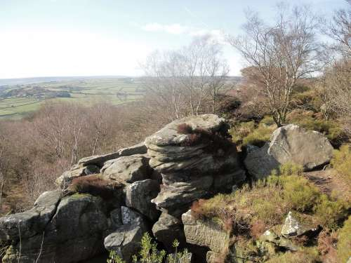 Rocks Scenery Outdoor Landscape Countryside