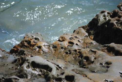 Rocks Ocean Water Pacific Summer Coast