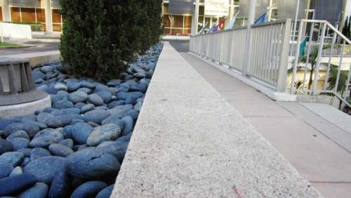 Rocks Pebbles Sidewalk Cement Pebble Rock Stones