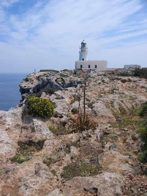 Rocky Coast Rock Karg Lighthouse Menorca