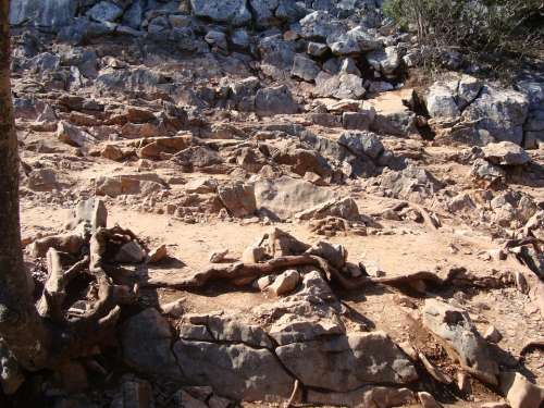 Rocky Road Road Path Stone Our Lady Of Medjugorje
