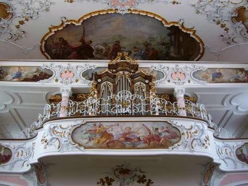 Rococo Organ Gallery Parish Church St Ulrich Seeg