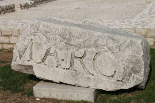 Roman Old History Stone Culture Rock Engraving