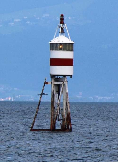 Romanshorn Lighthouse Sturmwarnung Lake Constance
