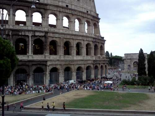 Rome Colosseum Italy Ancient Roman Coliseum