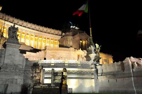 Rome Altar Altare Della Patria Italy Ancient Rome