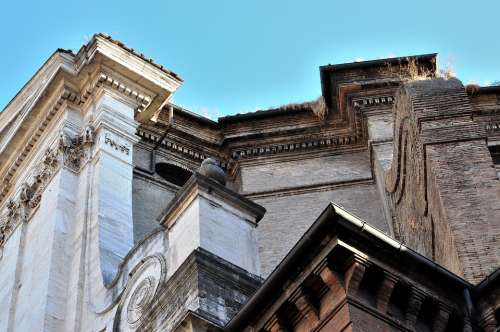 Rome Construction Palazzo Old Palace Forms Italy