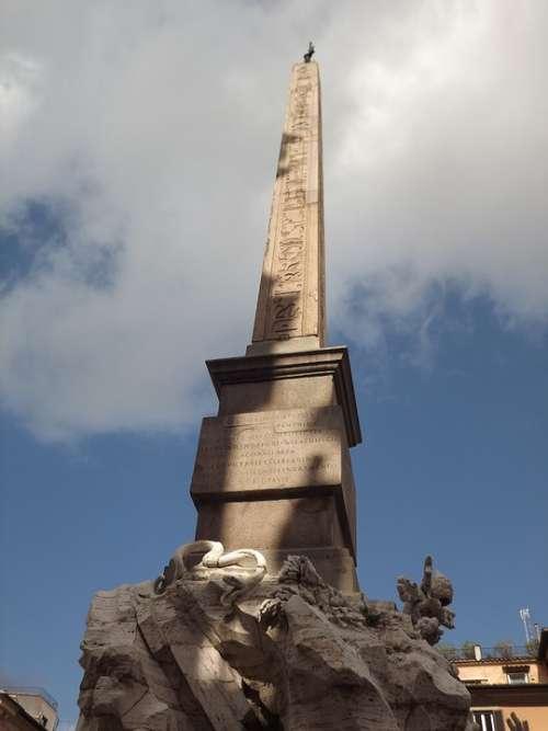 Rome Obelisk Four Fountain Flows Bernini Culture