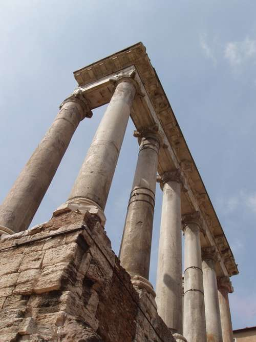 Rome Columns Italy Ancient Greek Historic