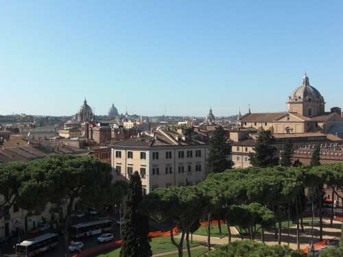 Rome Italy Downtown Building Romans Architecture
