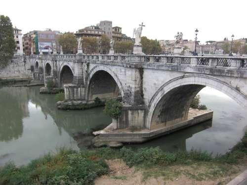 Rome Italy Tiber River Fiume Tevere Bridge