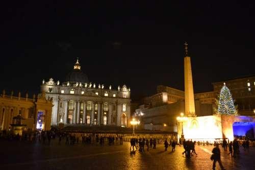Rome Italy Place Night Christmas