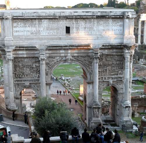 Rome The Arc De Triomphe Monument Italy