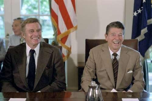 Ronald Reagan Charlton Heston 40Th President Actor