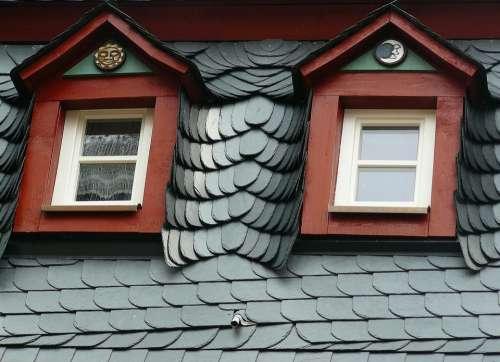 Roof Slate Roof Slate Roofing Giebelfenster Gable