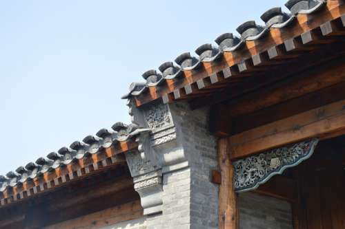 Roof Wadang Building Traditional Decoration China