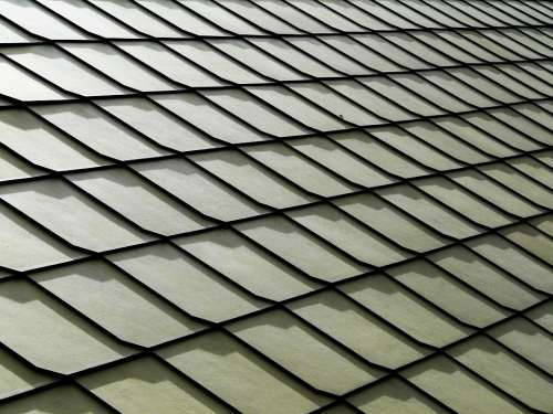 Roof Tiles Abstract Background Grey Gray