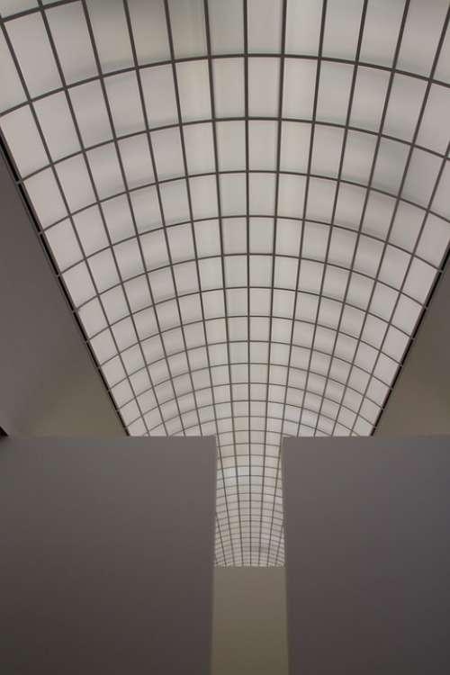 Roof Glass Roof Museum Aufblick Sky Building