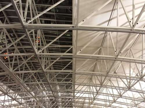 Roof Linkage Metal Rods Scaffold Airport Frankfurt