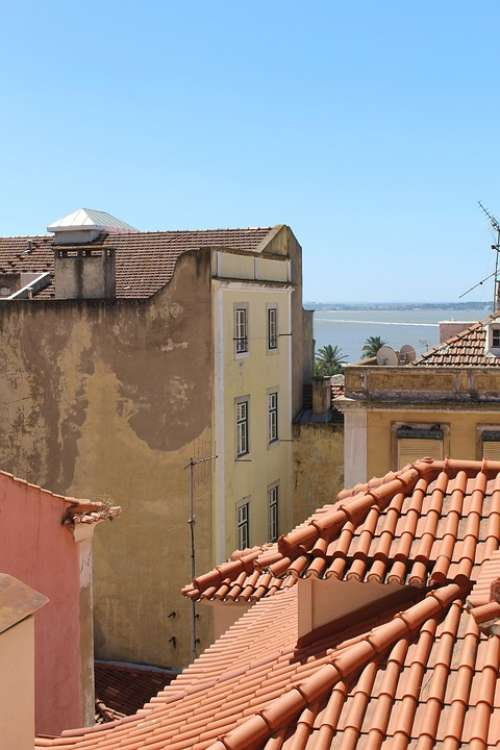 Rooftop Roof Architecture House Exterior Lisbon