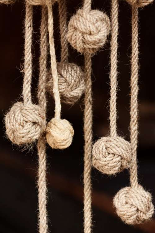 Rope Knot Natural Strong Bend Twisted Node