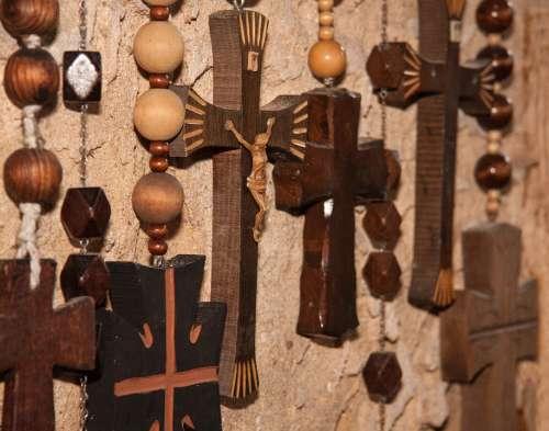 Rosary Rosaries Beads Christian Cross Wood Jesus