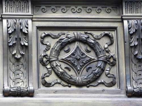 Rosette Sculpture Emboss Ornament Fine Art