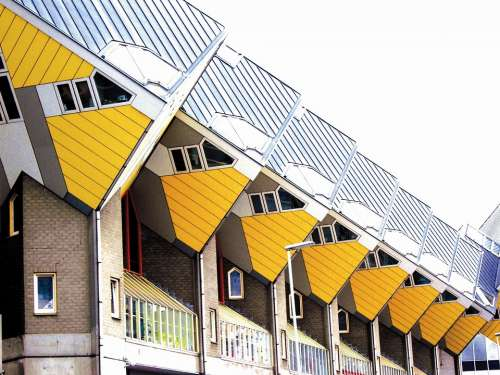 Rotterdam Cube Houses On Stilts Holland