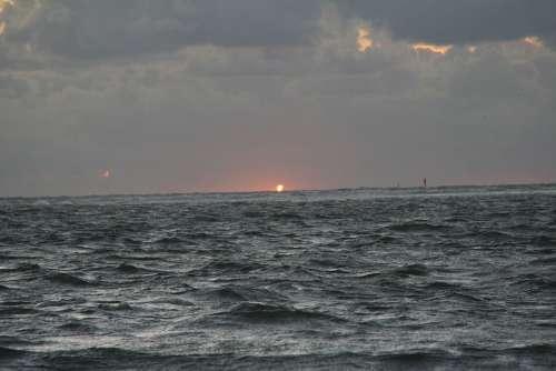 Rough Seas North Sea Borkum Germany