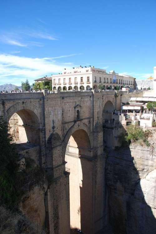 Round Bridge Roman Architecture Viaduct Spain