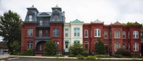 Row Houses Washington Dc City Cities Urban
