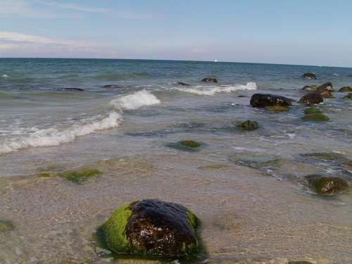 Rügen Beach Water Sea Baltic Sea Stones Rock
