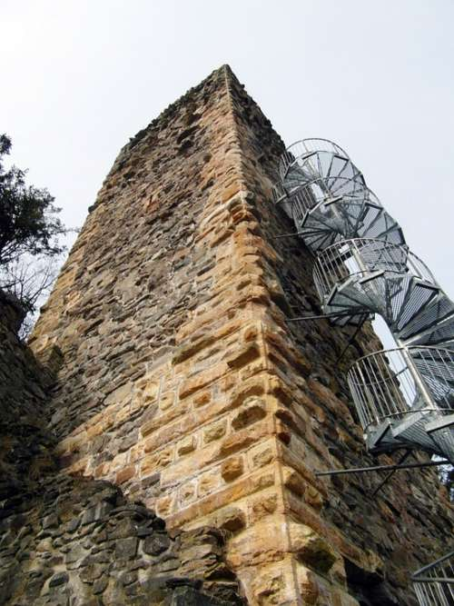 Ruin Tower View Wieladingen Murg Valley