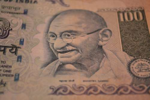 Rupees Banknote Mahatma Gandhi Money Currency