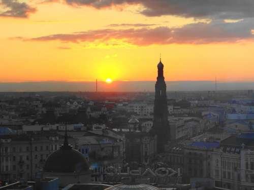 Russia Tatarstan Kazan Sunset Sun Sky Landscape