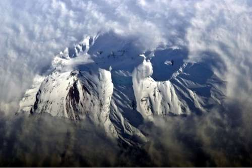 Russia Avachinsky Volcano Mountains Snow Landscape