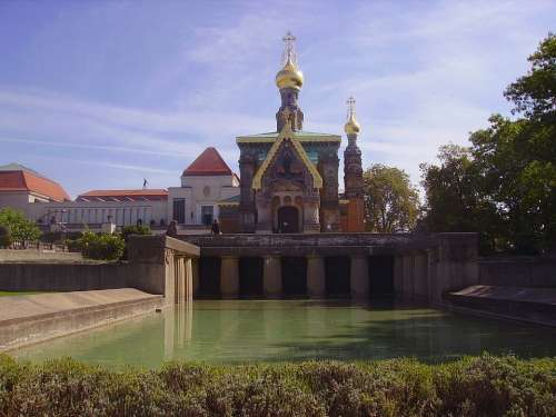 Russia Church Russian Orthodox Building Steeple