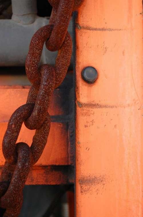 Rust Abstract Rivets Steel Chain Rusty Metal
