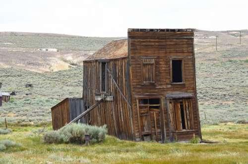 Rustic Sagging Building Bodie California