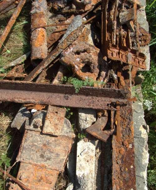 Rusty Iron Metal Rust Industrial Garbage Od Junk
