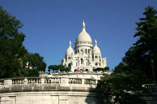 Sacre Coeur Dome Of Church Paris