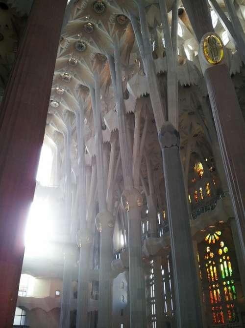 Sagrada Família Window Inside Construction