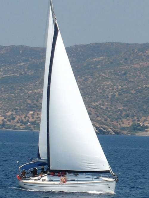 Sailboat Mediterranean Greece Mediterranean Sea